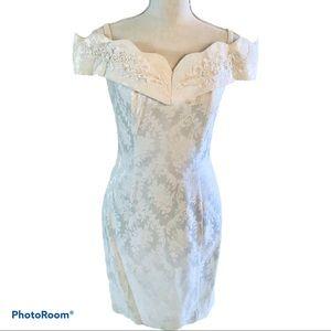 Roberta White Beaded Dress.